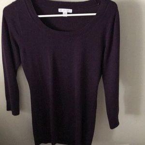 New York and Company ¾ Length Purple Sweater.